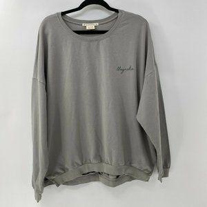 Magnolia Script Dusty Green Sweatshirt womens XXL